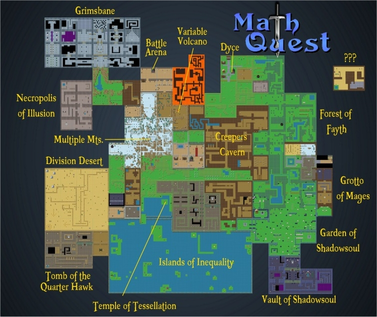 Math Quest Map | RoomRecess.com on