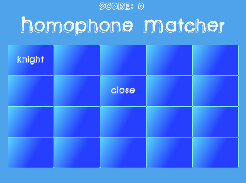 Homophone Game