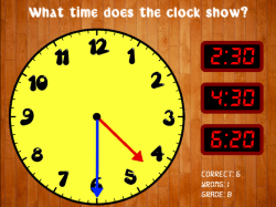 TimeTeller: Reading a Clock Game
