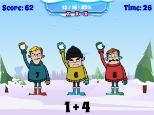 Snowball Fight: Math Game
